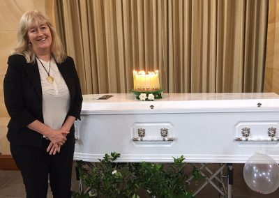 Melissa Halliday, funeral director